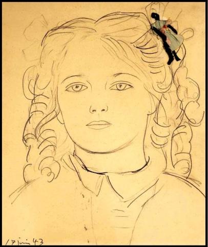 Anne Lauricella Picasso Papa et moi contour