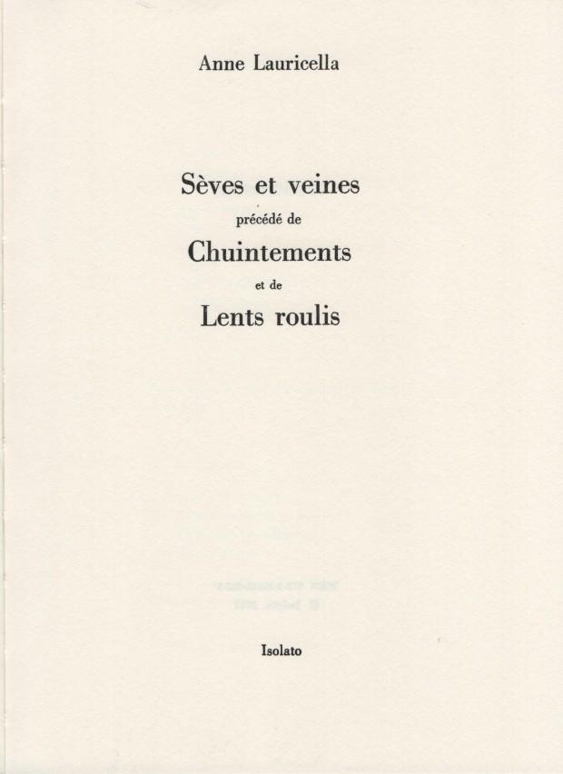 Anne Lauricella Seves et Veines Titres 001