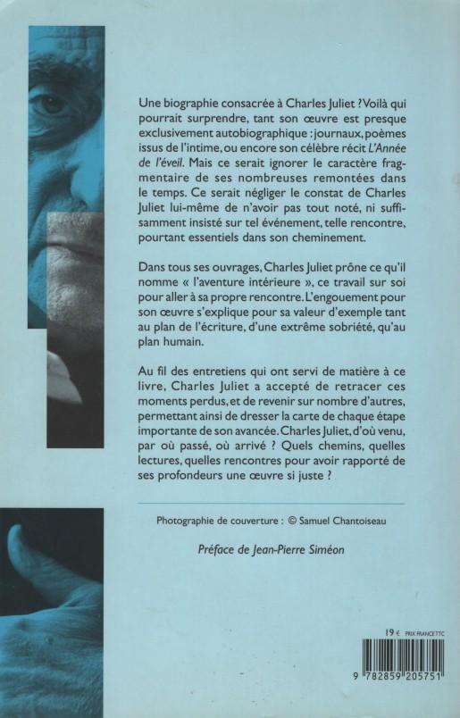 Anne Lauricella Charles Juliet Biographie 4e de couv 001