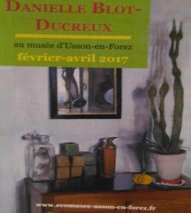 Anne Lauricella Danielle Blot-Ducreux Affiche Expo Usson en Forez