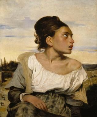 Anne Lauricella - Delacroix, jeune orpheline au cimetière