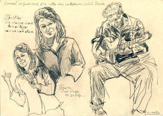 Anne Lauricella Villa des Createurs - Dessin Christine Hallo 2