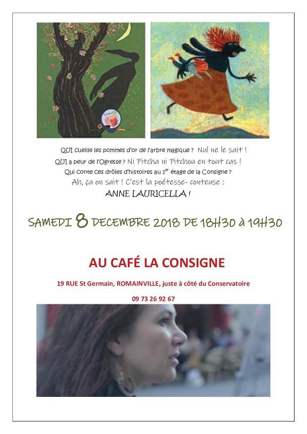 Anne Lauricella - Conteuse- poétesse -café restaurant LA CONSIGNE - Romainville