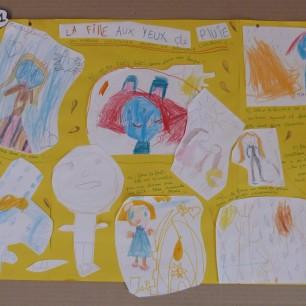 Anne Lauricella - La Fille aux yeux de pluie - Atelier Fabrique d'histoires - Ecole primaire