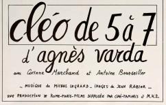 Affiche Cléo de 5 à 7 détail - Agnès Varda - Anne Lauricella Ma famille de poètes