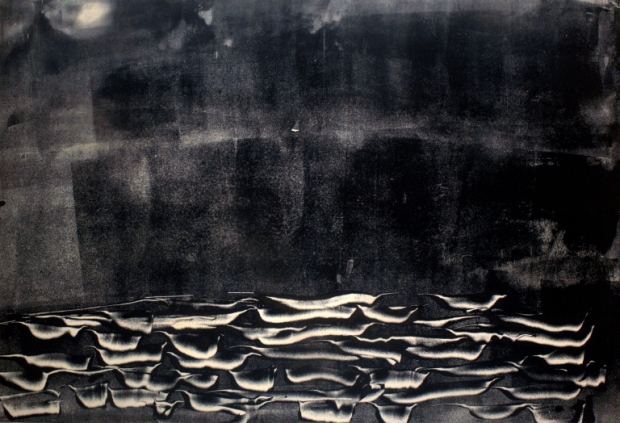 Monotype Eau - Alena Meas - Peinture et poésie - Anne Lauricella