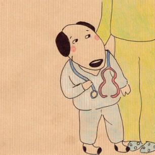 Anne Lauricella - Carnet de dessins - série Luchien à l'hôpital a