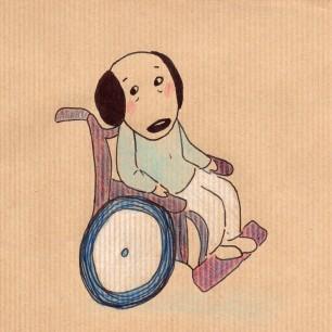 Anne Lauricella - Carnet de dessins - série Luchien à l'hôpital b