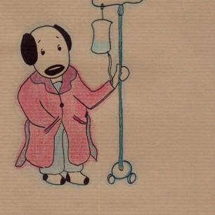 Anne Lauricella - Carnet de dessins - Série Luchien à l'hôpital c