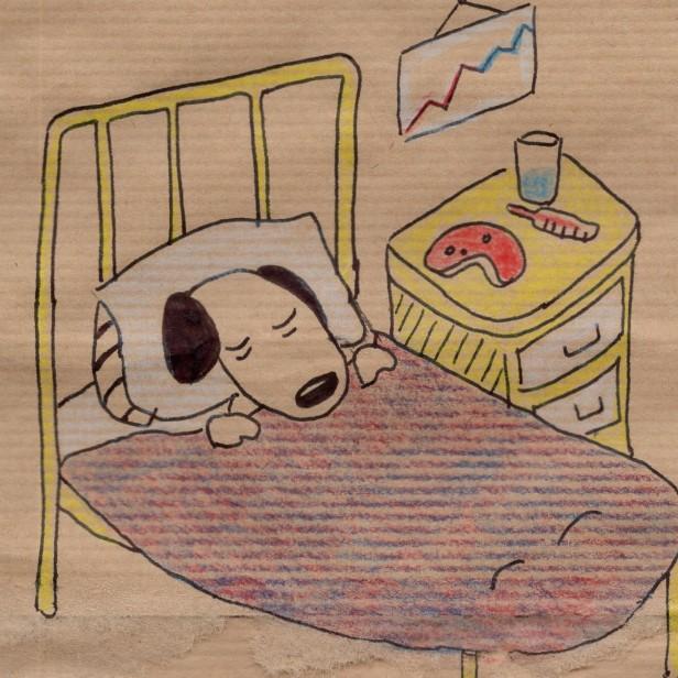 Anne Lauricella - Carnet de dessins - Série Luchien à l'hôpital