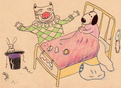 Anne Lauricella - Carnet de dessins - Série Luchien clown