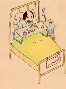 Anne Lauricella - Carnet de dessins - Série Luchien repas