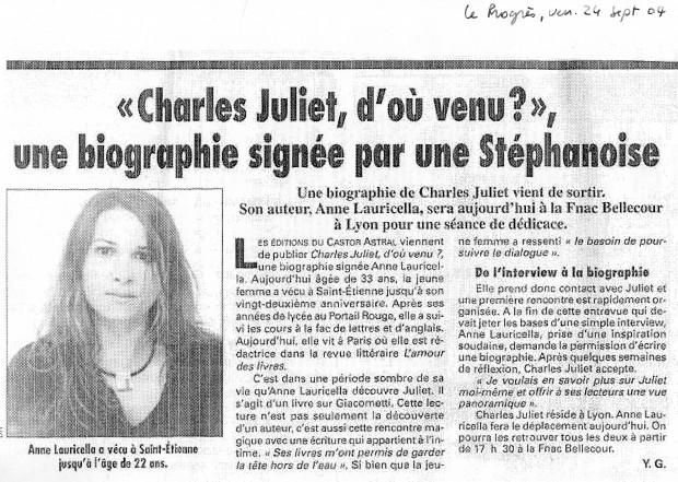 1 Le Progrès sept 2004