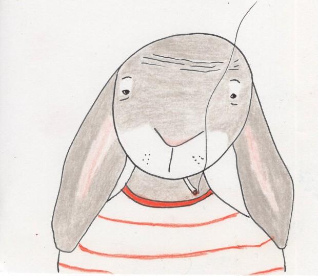 Anne Lauricella Instagram @lauricellanne lapin à la clope